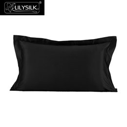 momme silk 2019 - LilySilk Pillowcase Pure 100 Silk Natural for Hair Luxury Oxford Mulberry 22 momme Beauty 40x40 50x90 Home Textile Free