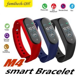 $enCountryForm.capitalKeyWord Australia - M4 Smart Bracelet Fitness Tracker Pedometer Watch Band Heart Rate Blood Pressure Monitor Smart Wristband For Android Cradle Design
