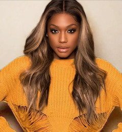 hairstyles for long wavy hair 2019 - Premier Lace Front Wigs Indian Remy Human Hair 150% Density Ombre Long Wavy Hairstyle For Women cheap hairstyles for lon