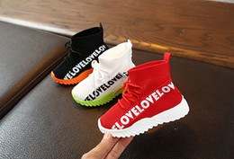 wool shoes NZ - New fashion kids shoes children   baby running sneakers boots toddler boy and girls Wool knitted Athletic socks shoes Black white