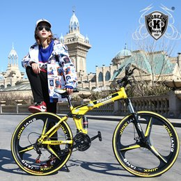 26 folding bikes online shopping - KUBEEN mountain bike inch steel speed bicycles dual disc brakes variable speed road bikes racing bicycle