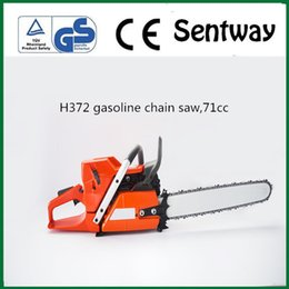 gasoline saws UK - H372chain saw 71.8cc gasoline chainsaw with 18 20 24 inch bar high quality fast shipping made in china
