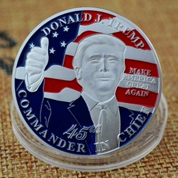 Wholesale Donald Trump President Commemorative Coin Trump Silver Plated Collectible Gift Coin America President Trump Commemorative Coin BH2025 TQQ