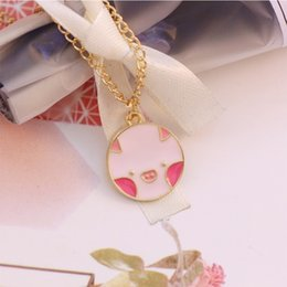 $enCountryForm.capitalKeyWord Australia - DIY Pig Animal Pendant Necklace For Women Girls Handmade Enamel Cute Gold Long Chain Necklaces Choker Lovely Jewelry Gifts 2019