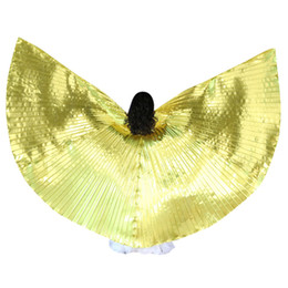 wings wear NZ - Belly Dance Isis Wings with Sticks for Children Belly Dance Costume Angel Wings Stage Wear Costume roupa feminina