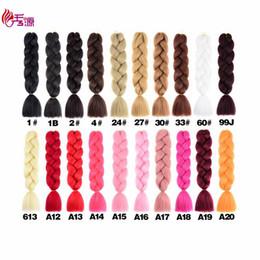 fiber one 2019 - Braiding Hair One Piece 24inch Synthetic Kanekalon Fiber Braid 100g Piece Pure Color Crochet Jumbo Braid Hair Extensions