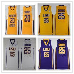 ca731fd9f2c1 lsu basketball jersey 2019 - NCAA  20  25 LSU Tigers College Simmons Jersey  Montverde