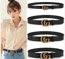 belts men gold NZ - Designer Men Belt Fashion Belt Women Leather Belt Letters Gold Buckle and Leather Good Quality without box