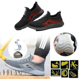 Wholesale Safety Shoe Steel Toe Cap Mens Sport Outdoor Working Hiking Trail Breathable Shoes Protective Footwear Trainers Blast Anti-piercing Boots