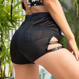 sexy black women booty UK - Women Sexy Black Booty Shorts Summer High Waist Hot Club Party Bottom