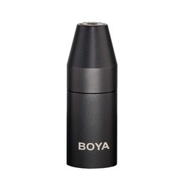 Trs Audio Jack Australia - BOYA By 35C-Xlr 3.5mm (Trs) Mini-Jack Female Microphone Adapter To 3-Pin Xlr Male Connector For Camcorder Mixer Camera Audio R