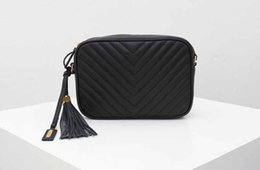 Discount camera bags women fashion leather Lady shoulder bags genuine leather camera style purse bag classical style tassel model Y messenger hand bag purses ladie