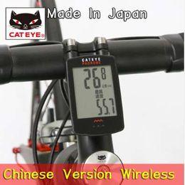Cc Bikes Australia - CATEYE Cycling Bike Bicycle PADRONE CC-PA100W Wireless Digital Computer Speedometer Stopwatch Bicycle Accessories Black Chinese