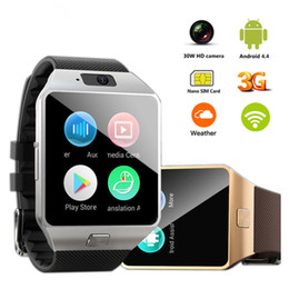Camera Sms Australia - QW09 Smart Watch DZ09 Android Upgrade Bluetooth Mobile Phone Smartwatch 3G WIFI Watch Call SMS Facebook Alarm For Android Xiaomi