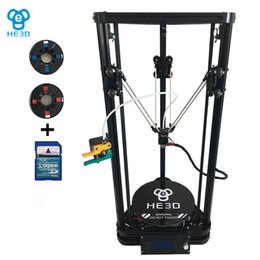 Aluminium beds online shopping - HE3D New upgrade K200 single aluminium extrusion delta D printer with heat bed auto level support multi filaments