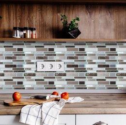 Toptan satış Çini soyun ve Çubuk Kendinden yapışkanlı Çıkarılabilir Çubuk Açık Mutfak backsplash Banyo 3D Epoksi Duvar Sticker Duvar Kağıdı Fayans Çıkartma Multicolors