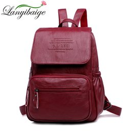 large leather travel bag women NZ - Lanyibaige Luxury Women Backpacks High Quality Pu Leather Backpack Female School Bags For Girl Fashion Large Capacity Travel Ba J190523