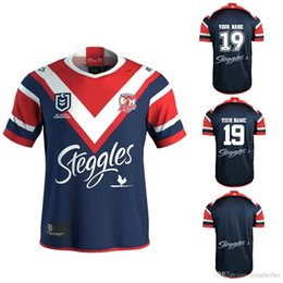 9038ce382dd Custom name and number 2019 2020 SYDNEY ROOSTERS Home ANZAC rugby Jerseys  National Rugby League shirt AUCKLAND JERSEY shirts s-3xl