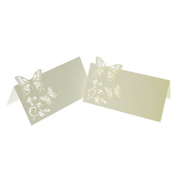 Chinese  60x Butterfly Flower Place Table Numbers Guest Seating Name Cards for Wedding Party Decoration manufacturers