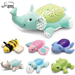 BaBy animal music plush toys online shopping - Baby Sleep LED Lighting Stuffed Animal Led Night Lamp Plush Toys With Music Stars Projector Light Baby Toys For Girls Children Y200111