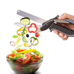 $enCountryForm.capitalKeyWord Australia - Kitchen Clever Cutter 2 in 1 Food Scissors Smart Kitchen Shears Vegetable Slicer Dicer with Cutting Board