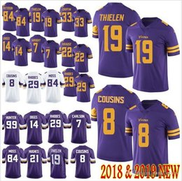 Men s Minnesota 8 Kirk Cousins 19 Adam Thielen 14 Stefon Diggs Vikings  Jersey Harrison Smith 55 Anthony Barr 33 Dalvin Cook Jerseys S-XXXL 86f4c048a