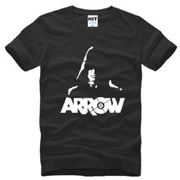 justice league shirts UK - Green Arrow T Shirts Men Cotton Short Sleeve Justice League Men T Shirt Fashion Moive Fans Clothes Male Top Tees Big Sizets10