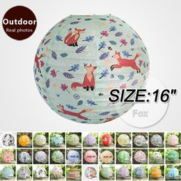 Chinese lantern birthday party online shopping - 16 quot Fox Chinese New Year Paper Lanterns home decorations Birthday Party Festive Outdoor Activities lampshade hanging lantern
