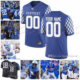 KentucKy football online shopping - Custom NCAA Kentucky Wildcats UK Benny Snell Jr Lynn Bowden Jr Danny Clark Asim Rose David Bouvier College Football Jersey