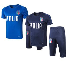 uniform polo Australia - 2019 Italy Short sleeve polo shirt soccer training suit Survetement 18 19 20 DE ROSSI football jersey set BONUCCI Short sleeve tracksuit