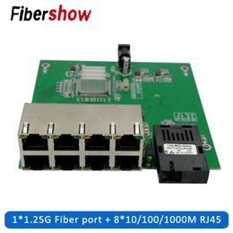 fiber port Australia - Gigabit Ethernet switch 8 RJ45 1 SC Optical Media Converter Single Mode fiber Port 10 100 1000M PCBA board