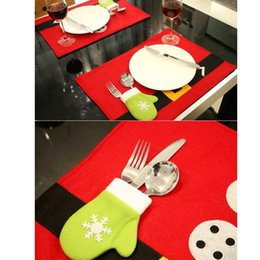 red party tablecloth Australia - 2 Pcs Red Christmas Placemat Tablecloth Christmas Party Decorations Home Table Decoration Accessories High Quality 5ZDZ668