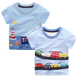 $enCountryForm.capitalKeyWord Australia - 2pcs Baby Boys T Shirts Animal Pattern Kids T-shirts for Boys Clothes Children Short Sleeve Shirts Striped Boy Summer Tops Tees
