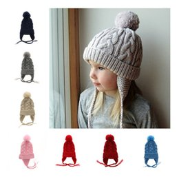 8cf725f93ad Newest kids Twisted braid knitting hats baby boys girls Leisure Crochet  caps children Autumn Winter warm headging hat 9 colors B11