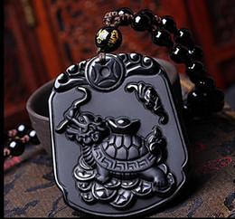 $enCountryForm.capitalKeyWord NZ - Factory direct obsidian dragon turtle pendant natural obsidian gemstone necklace wholesale