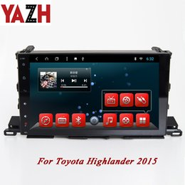 touch screen toyota NZ - YAZH 1 Din Car DVD Radio with Monitor Capacitive HD Touch Screen for Toyota Highlander 2015 Support GPS Navi Android 8.1 Octa Core