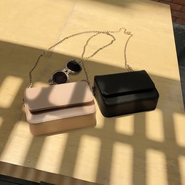 opening mobile phone UK - atmospheric 2020 Summer all-match Korean shoulder messenger change mobile phone mini chain small square bag