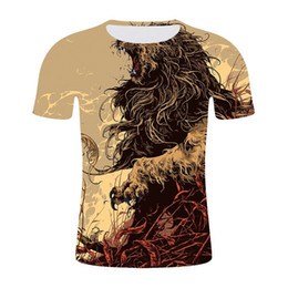 ca89f01ef16d 2019 summer men s European and American fashion street style design 3D  animal print short-sleeved t-shirt casual men s clothing wholesale