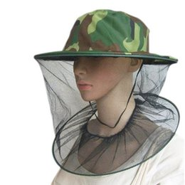 85a6c0d1 Outdoor Camouflage Cap Sun Protection Fishing Hats Insect Bee Mosquito  Resistance Bug Net Mesh Head Face Hat ZZA410
