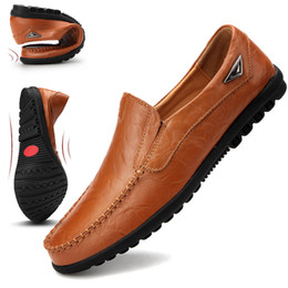 $enCountryForm.capitalKeyWord NZ - 2019 Genuine Leather Men Shoes Casual Luxury Italian Mens Loafers Moccasins Breathable Slip on Driving Shoes Men Plus Size