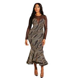 $enCountryForm.capitalKeyWord UK - Leisure Fashion A New Type of Super Fire Mesh Spliced Swallow Tail Dress Long Sleeve Dress hot selling Dresses