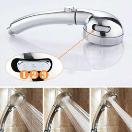 shower stream Australia - Shower Bath Head Adjustable 3 Mode High Pressure Stone Stream Handheld Shower Head With Negative Ion water-saving