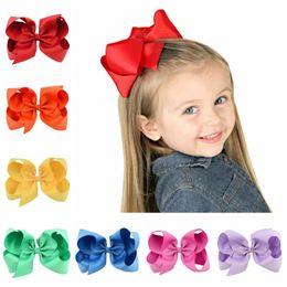 Fiber Fox NZ - 40 Colors 6 Inches Kids jojo bows baby girls hairbands Solid Fox Mermaid Unicorn Clippers Girls Hair Clips JOJO SIWA Hair Accessories