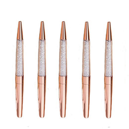 $enCountryForm.capitalKeyWord Australia - Rose Gold Pen Bling Rhinestone Pens Fine Black Ink Pen-6 Pack and 6 Extra Refills (Rose Gold Metal Pen 6 Pack)