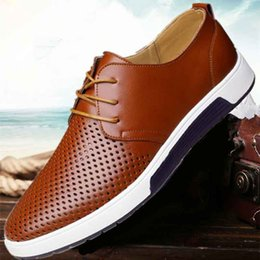$enCountryForm.capitalKeyWord Australia - Masorini Brand Spring Summer Breathable Holes Men Shoes Casual Leather Fashion Trendy Men Flats Ankle Shoes Drop Shipping WW-323