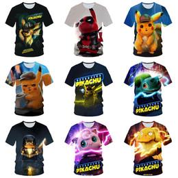 dc13ff251 Pikachu t shirt online shopping - 29 styles pikachu T shirt Summer D Print  Short Sleeve