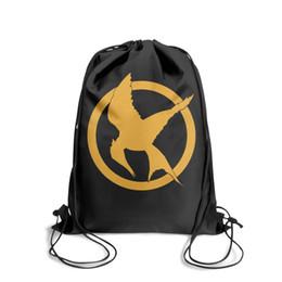 $enCountryForm.capitalKeyWord Australia - Drawstring Sports Backpack Hunger Games logocool convenient Travel Beach Pull String Backpack