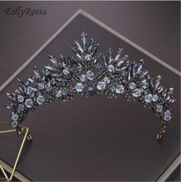 Crystal Drop Ornaments Australia - Crystals Headbands Rhinestones Sparkly Wedding Crown Women Hair Accessories for Wedding Party Baroque diadem hair jewelry ornament