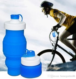 retractable water bottle Australia - 530ml Creative Outdoor Travel Eco-Friendly Folding Silicone Water Bottle Retractable Silicone Sport Cycling Kettle Cup 5 Colors