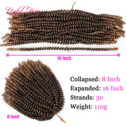 kinky hair braids NZ - ombre blonde Spring twist crochet braids hair extensions bouncy curl with pre tiwsted synthetic hair extensions xpression braiding hair